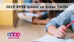 2019 KPSS Sınavı ve Sınav Tarihi