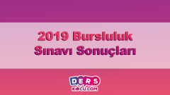 2019 Bursluluk Sınavı Sonuçları