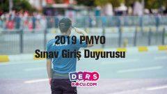 2019 PMYO Sınav Giriş Duyurusu