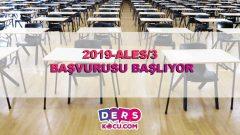 2019-ALES/3 BAŞVURUSU BAŞLIYOR