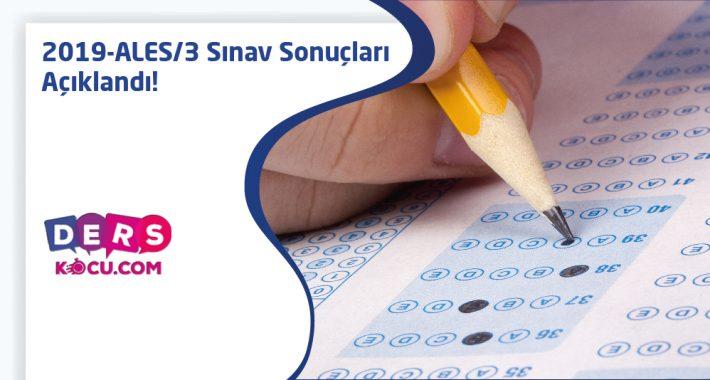 2019-ALES/3 Sınav Sonuçları Açıklandı!