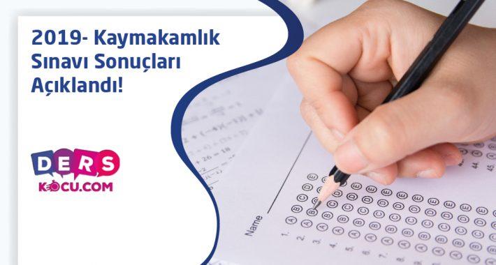 2019-Kaymakamlık Sınav Sonuçları Açıklandı!